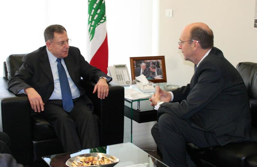 SCL Derek Plumbly Meets Former Premier, MP Fuad Siniora in Beirut (10 02 12) Photo DalatiandNohra