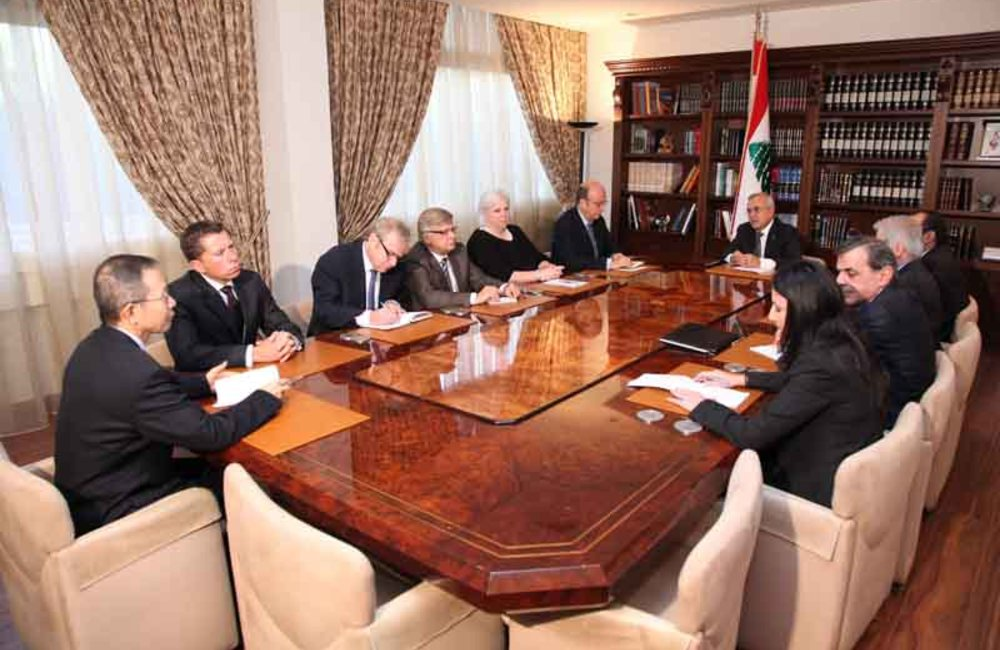 SCL Plumbly and P5 Meet President Sleiman after Assassination of Gen. El-Hassan (22 10 12)- dalatinohra