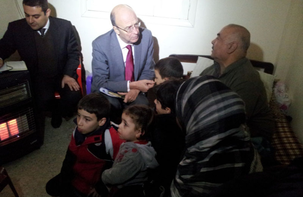 SCL Plumbly meets Palestinian Refugees from Syria in Ain El-Hilweh (31 01 13)