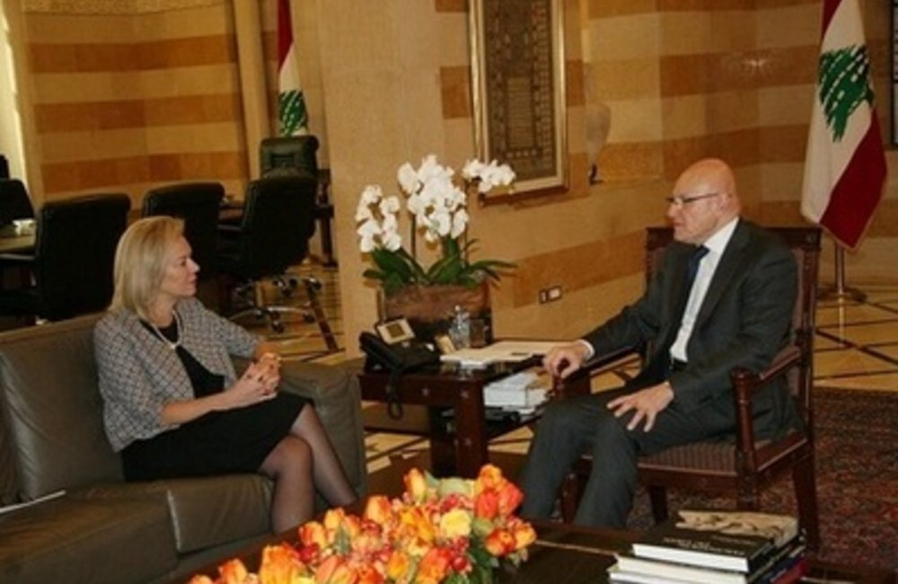 Special Coordinator for Lebanon Sigrid Kaag meets Prime Minister Tammam Salam (23-01-2015)