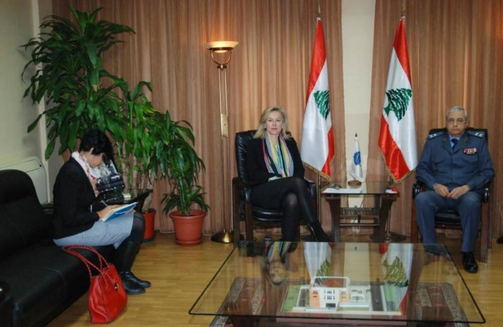 Internal Security Forces Chief, General Ibrahim Basbous welcomes SCL Sigrid Kaag(12 02 15)