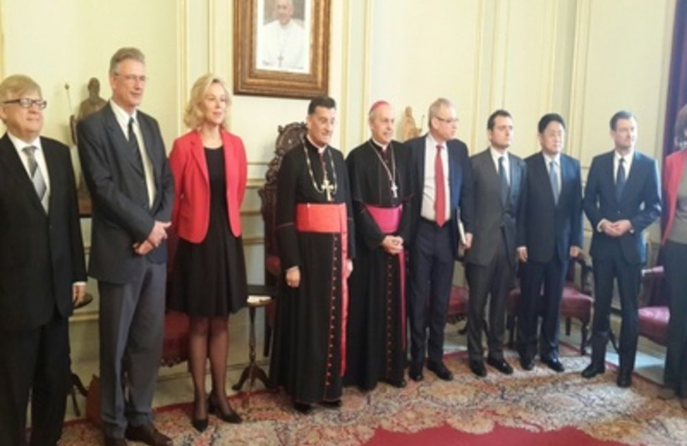 UN Special Coordinator, P5, Italy and Germany Heads of Mission Meet Maronite Patriarch El-Rahi (16 04 15)