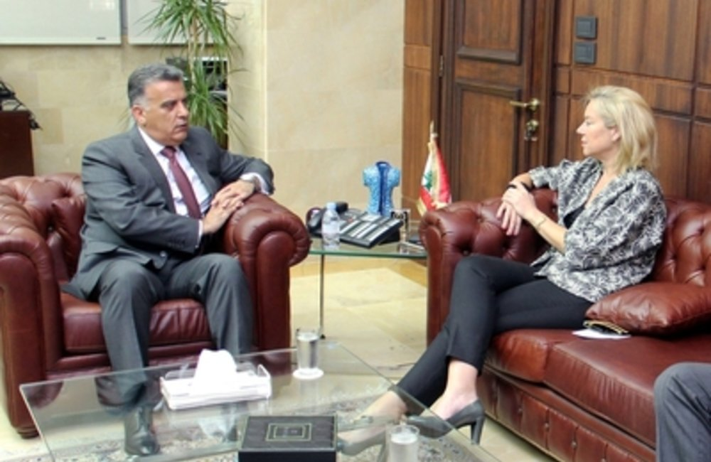General Security Chief, Major General Abbas Ibrahim, welcomed at his office the United Nations Special Coordinator for Lebanon, Sigrid Kaag.(21 04 15)