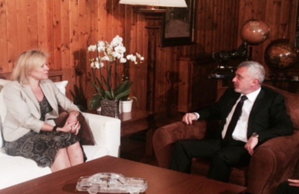 Sleiman Franjieh received at his residence the United Nations Special Coordinator for Lebanon Sigrid Kaag(27 04 2015)