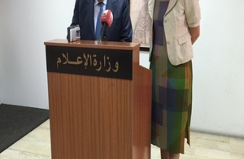 UN Special Coordinator for Lebanon Sigrid Kaag with Information Minister Ramzi Jreij (05 05 2015)