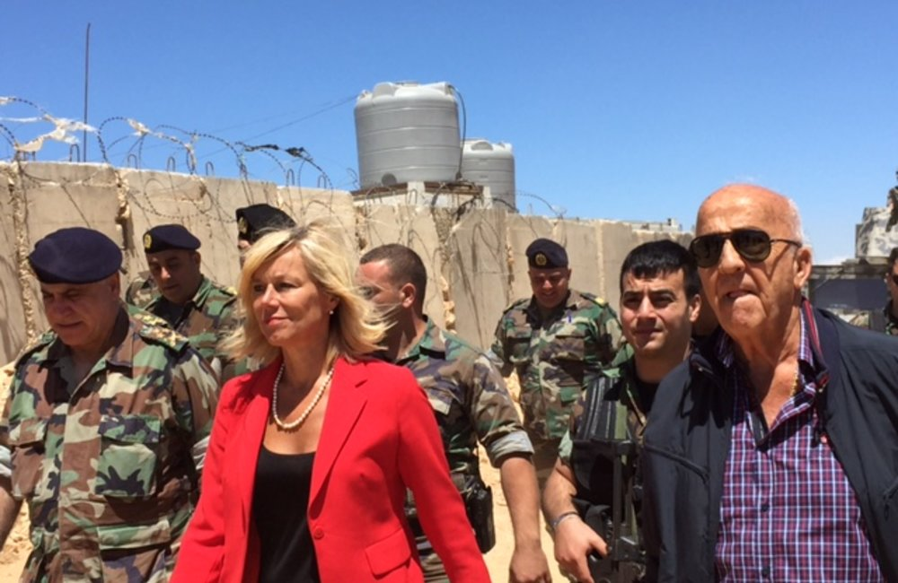 SCL Kaag Visits Arsal with Minister of Defense Samir Moqbel (30 06 15)
