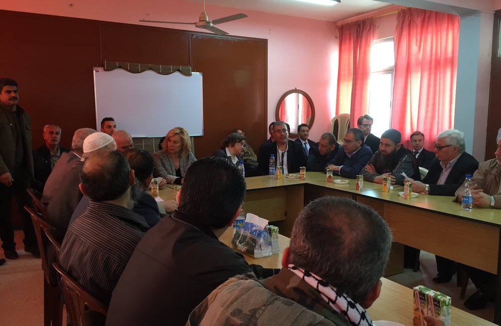 SCL Kaag meets with Palestinian factions in Ein El-Hilweh Palestine Refugee Camp (31 03 15)