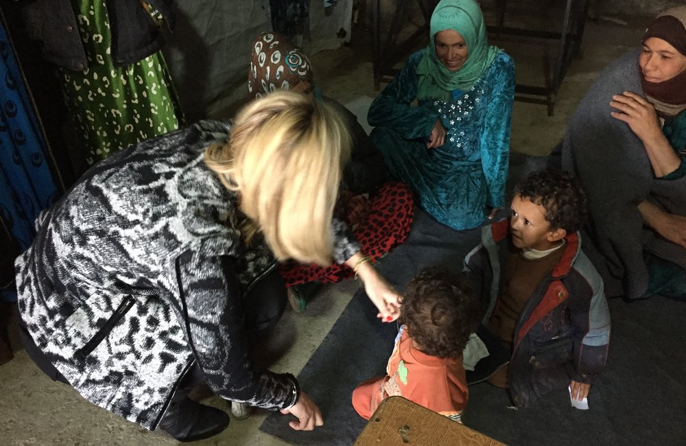 SCL Kaag visits Syrian refugee site in the Bekaa (26 02 15)