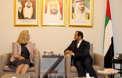 Special Coordinator Sigrid Kaag meets with UAE Ambassador to Lebanon  (photo by UAE Embassy Beirut)